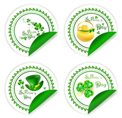 St.Patrick day labels