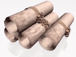 Parchment rolls