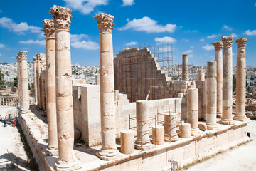 Wall Mural - Columns of the temple of Zeus in Jerash