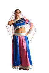 Woman posing in arabian costume