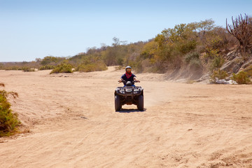 Off Road Vehicle on dirt road in Mexico