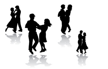 A collection of people dancing