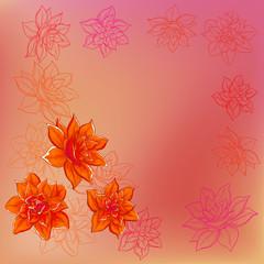 Background, flower narcissus