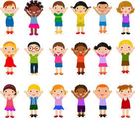 Vertical Group of Children