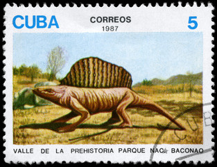 CUBA - CIRCA 1987 Dinosaur