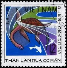 VIETNAM - CIRCA 1978 Plesiosaurus
