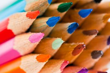 color pencils. Macro