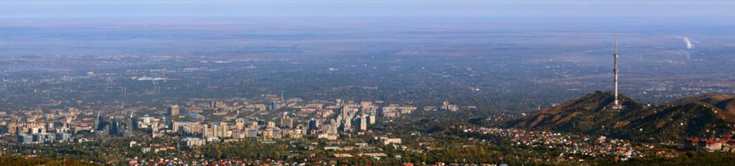 panorama of city almaty