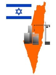 construction in  Israel. vector