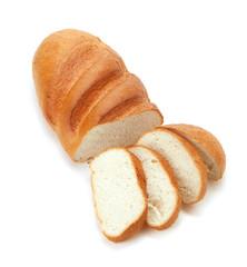 Sliced long loaf bread