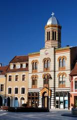 Byzantine style church in Brasov city, Romania