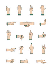 Female Hand Gesture Icons