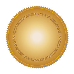 Blank gold medal for design