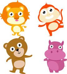 animal:lion,monkey,hippo,bear