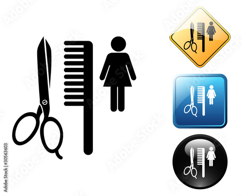 Beauty Salon Pictogram And Signszip
