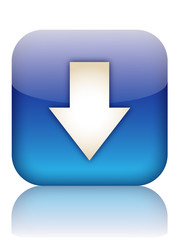 DOWNLOAD Web Button (internet upload downloads click here blue)