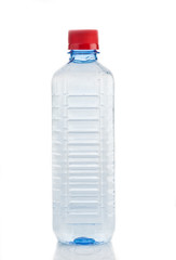 Water bottle against white background
