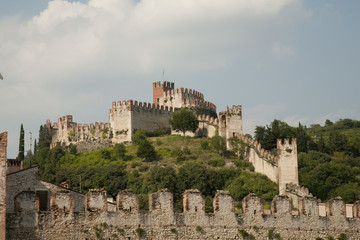 Soave, castle and walled city