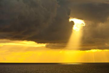 sunbeam and ocean