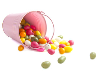 Bucket candy eggs