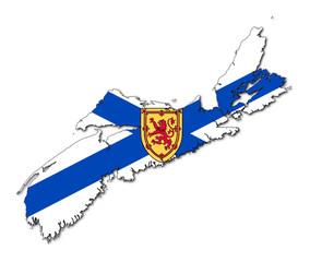 Fototapete - Nova Scotia map flag
