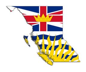 Fototapete - British Columbia map flag