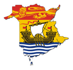 Wall Mural - New Brunswick map flag