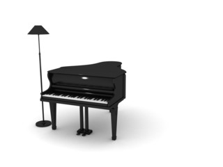 Piano With Lamp