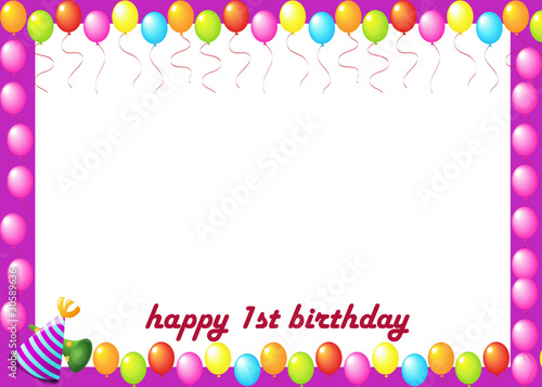 Birthday Kids Photo Frame Stock Photo And Royalty Free Images On