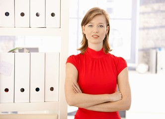 Portrait of female office worker