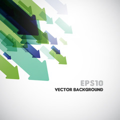 abstract vector background with arrows