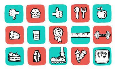 doodle icon set - health