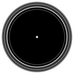 DJ turntable plate