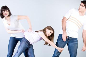 Parents using violence