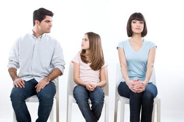 Depressed family portrait
