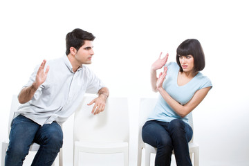 Woman frightened of her husband