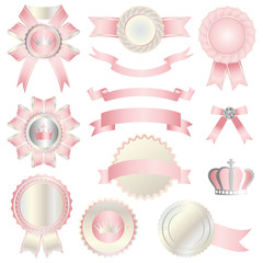 pink emblem set