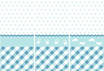 seamless baby boy pattern, blue wallpaper set