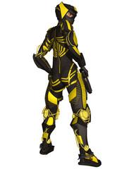 Futuristic Battle Suit
