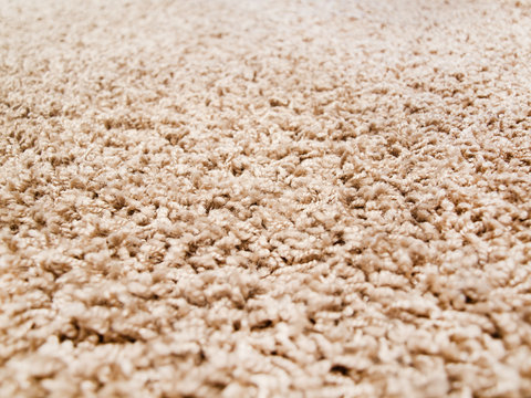 Thick luxury carpet closeup