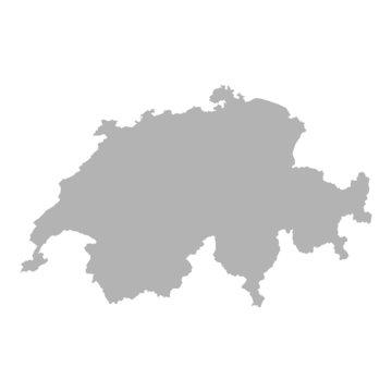 landkarte schweiz grau I