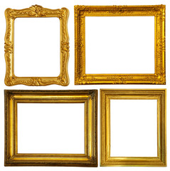 Set of few gold frame