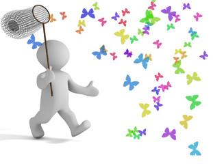 Schmetterlinge fangen