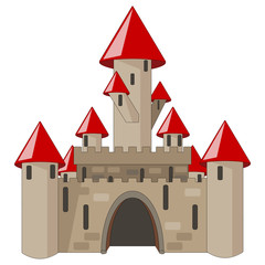 cartoon castle isolated on white