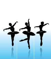Vector Illustration of  dancing  ballerinas