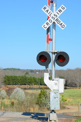 Railroad Crossing in a rural setting