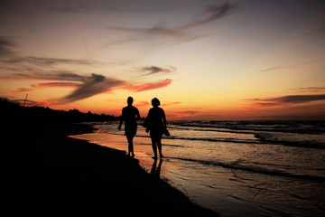 Silhouettes on Varadero Beach