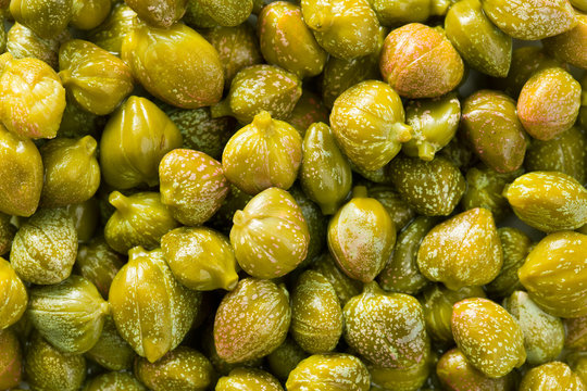 green capers background