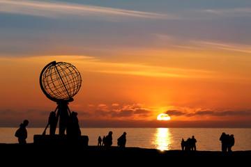 Garden Poster Scandinavia Nordkap b. Mitternachtssonne - North Cape w/ Midnight Sun
