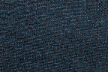 closeup of seamless dark blue denim fabric texture